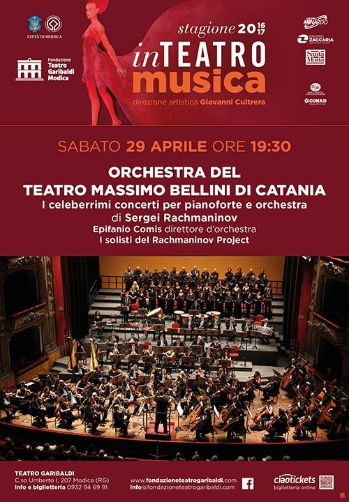 ORCHESTRA DEL TEATRO MASSIMO BELLINI DI CATANIA - i celeberrimi concerti per pianoforte e orchestra di Sergei Rachmaninov