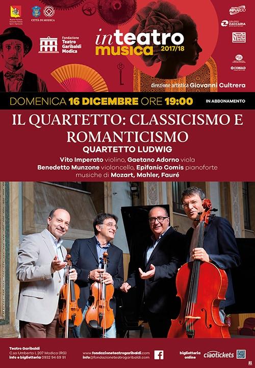 IL QUARTETTO: CLASSICISMO E ROMANTICISMO - Quartetto Ludwig