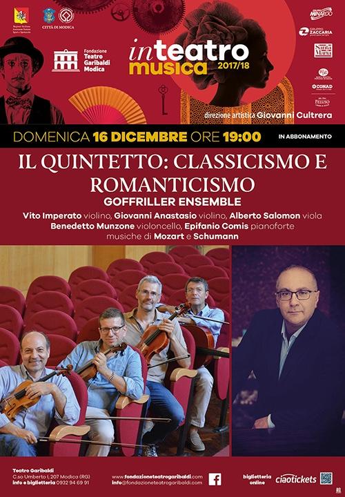 IL QUINTETTO: CLASSICISMO E ROMANTICISMO - Goffriller Ensemble