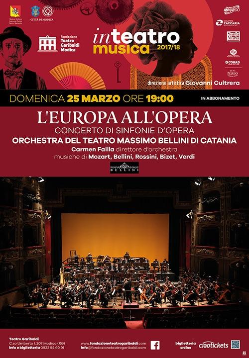 L'EUROPA ALL'OPERA - Concerto di sinfonie d'opera - Orchestra del teatro Massimo Bellini di Catania