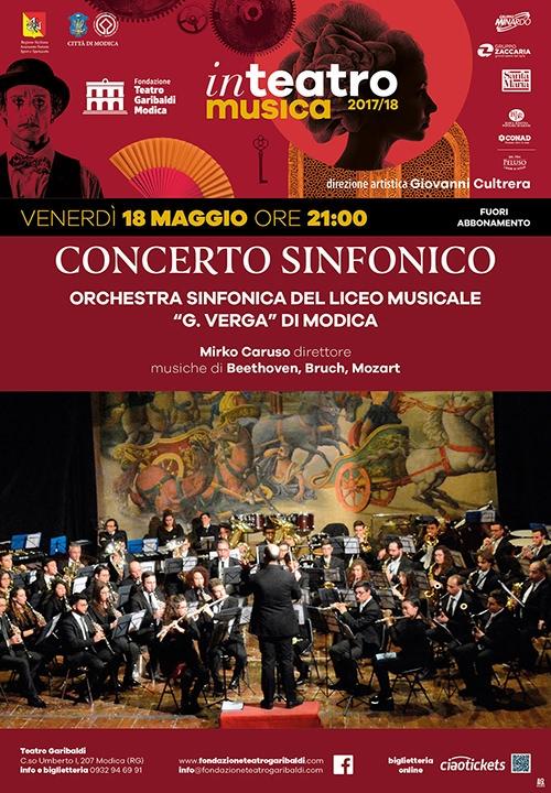"""CONCERTO SINFONICO - Orchestra sinfonica del Liceo musicale """"G. Verga"""" di Modica"""