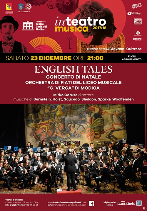 """ENGLISH TALES - Concerto di Natale - Orchestra di fiati del Liceo musicale """"G. VERGA"""" di Modica"""